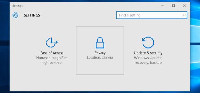 "Start screen and select ""Settings."""