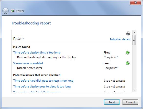 Use Windows Power Troubleshooting 3