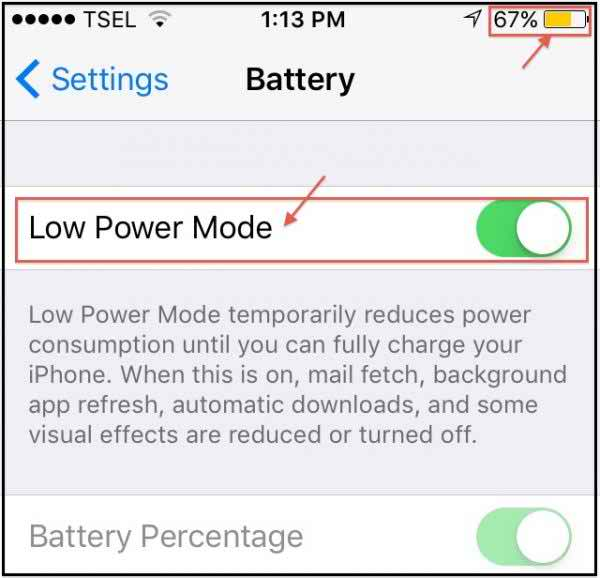 Activate The Low Power Mode