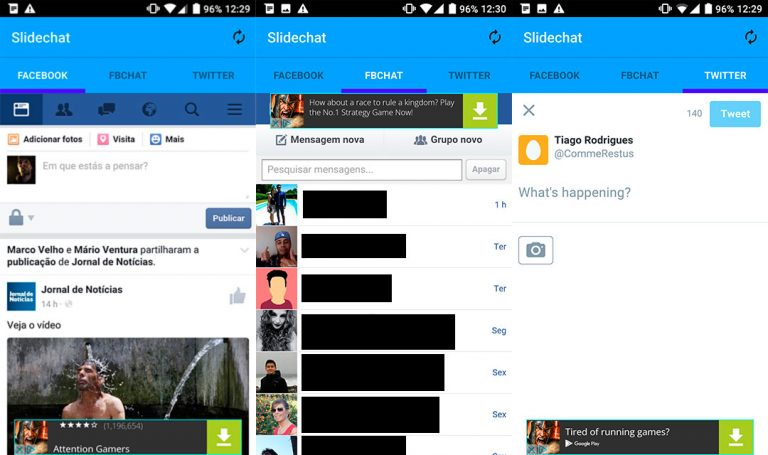 How to Use Facebook, FB Chat and Twitter with a Single App on Android device