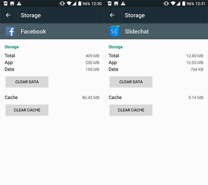 fb and slidechat data usage