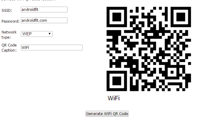 Generate QR Code for WiFi Password and Share to Friends