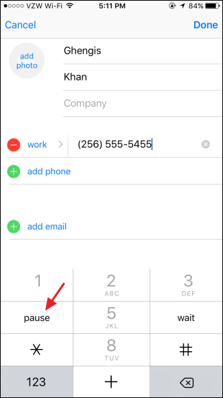 How to Dial Phone Extensions Automatically with Your iPhone (2)