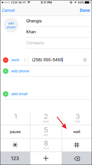 How to Dial Phone Extensions Automatically with Your iPhone (8)