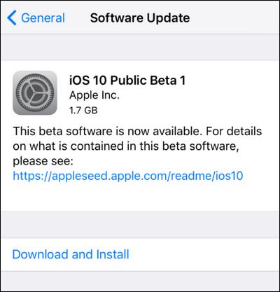 Install the iOS 10 Beta on iPhone or iPad (1)