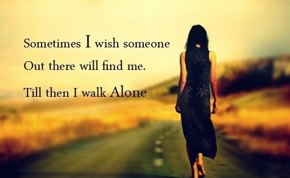 Alone-Girl-Whatsapp DP