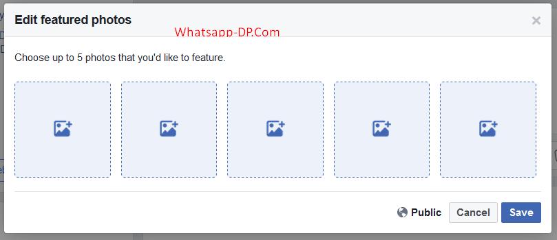 Add or Edit Facebook Featured Photos on Facebook