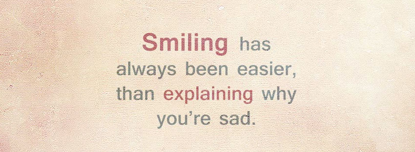 Smiling When Sad Dp for facebook whatsapp