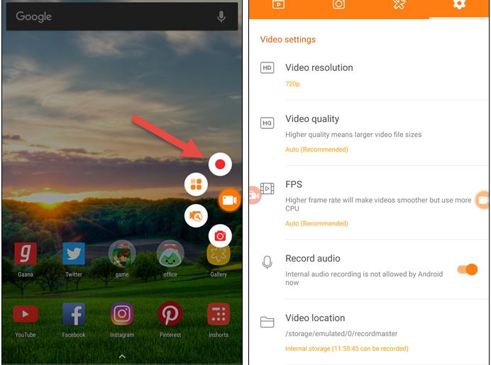 Record-Video-Calls-using-DU-Recorder-app