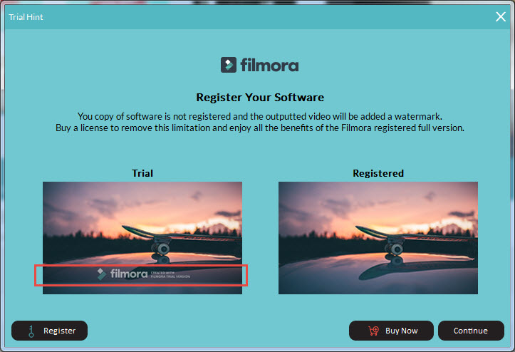 remove filmora watermark