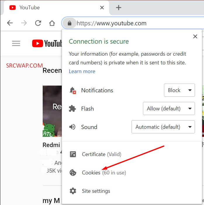 Clear all of YouTube's cookies on Google Chrome 1