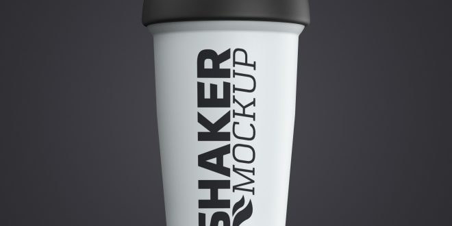 Protein Shaker Bottle Mockup Free Download