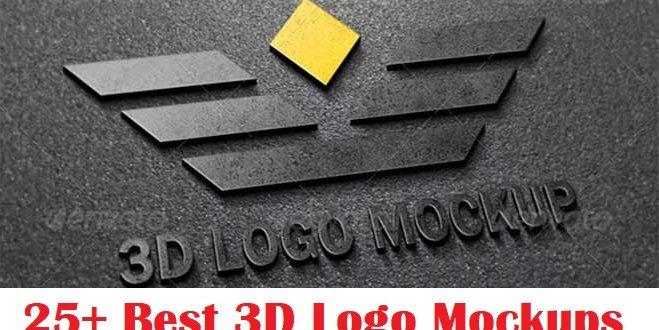 25+ Best 3D Logo Mockup Adobe PSD & Vectors |