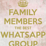 WhatsApp group icon for the family
