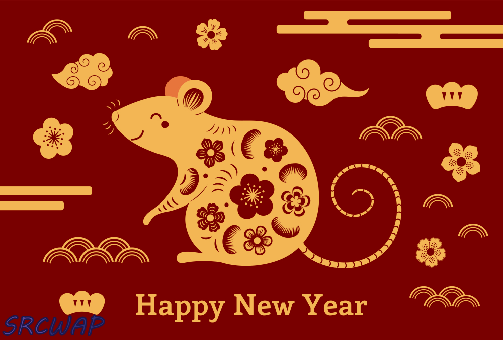 Happy chinese new year 2020 Zodiac sign
