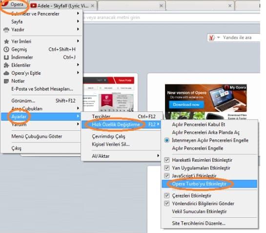How to open Opera Turbo Mod?