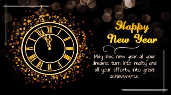 Happy New year 2021 Quotations black clock hd