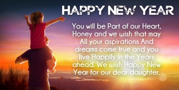 Happy New year 2021 SMS daughter