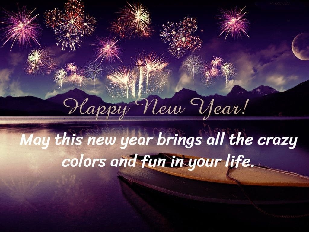 Happy new year 2021 sms with crazy colors