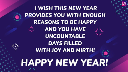 Happy New year 2021 Quotes blue HD