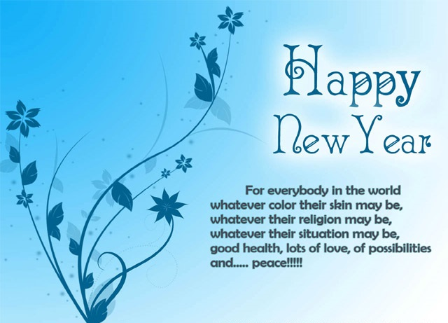 Happy New year 2021 Quotes blue flowers HD