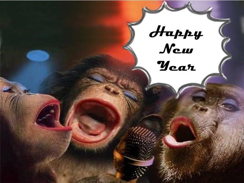 Happy new year 2021 funny monkey hd