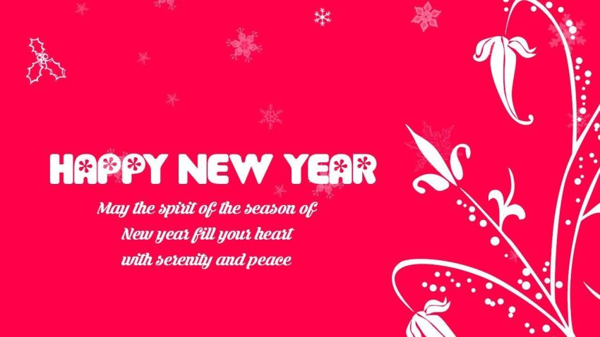 Happy new year 2021 status hd red flower