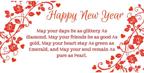 Happy New year 2021 Quotations red flowers hd