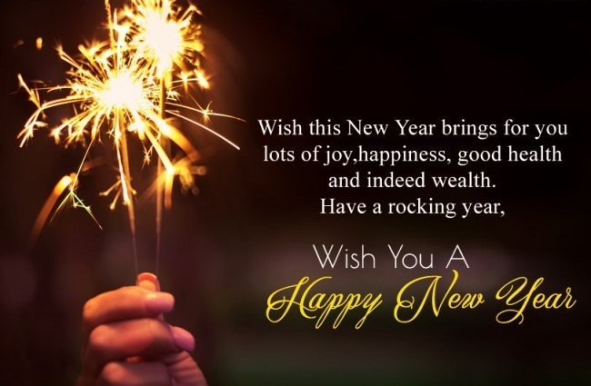 Happy New year 2021 Sms fire
