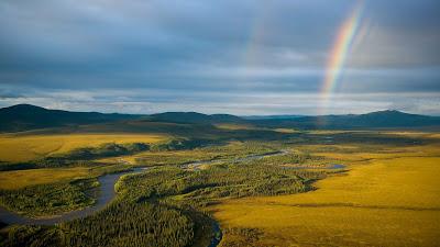 Wallpaper Rainbow Landacape, Grass Field, River+ Download Wallpapers