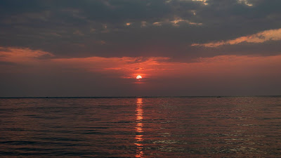 Wallpaper Sea, Horizon, Clouds, Sunset, Shine+ Download Wallpapers
