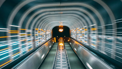 Photo, tunnel, deformation, neon+ Download Wallpapers