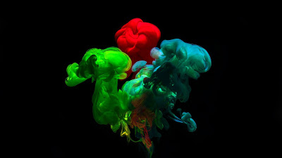 Colorful HD wallpaper ink, Abstract, water+ Download Wallpapers