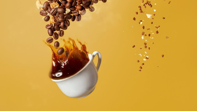 Coffee, Cup, Heart, Coffee Beans, Nuts, Splashes+ Download Wallpapers