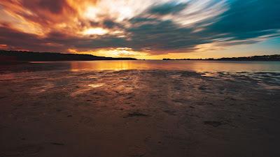 Sunset Lake Twilight Wallpaper Background+ Download Wallpapers