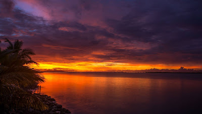 Tropical Island Sunset and iPhone desktop wallpaper+ Download Wallpapers
