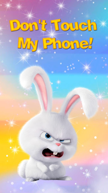 Cute rabbit Do not touch the wallpaper of my phone+ Wallpapers Download