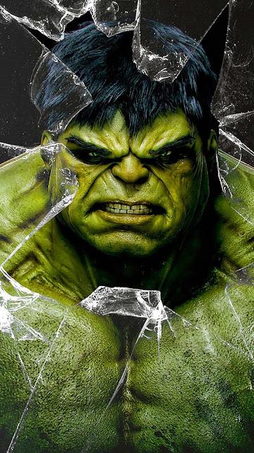 Hulk iphone broken screen wallpaper+ Wallpapers Download