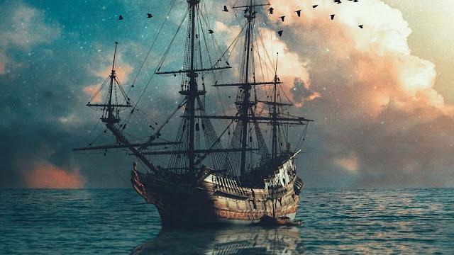 Ship On Sea Fantasy Wallpaper+ Wallpapers Download