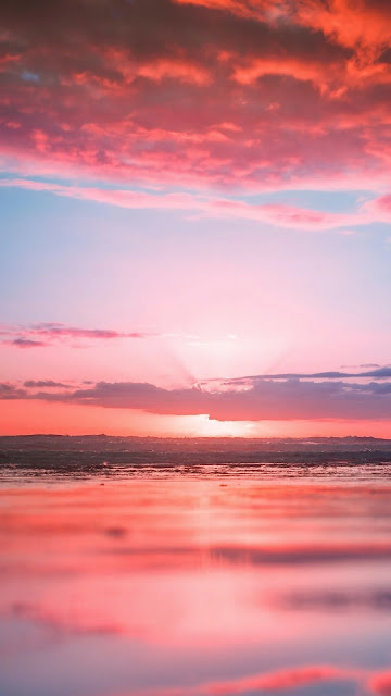 Iphone wallpaper for pink beach sunset+ Wallpapers Download