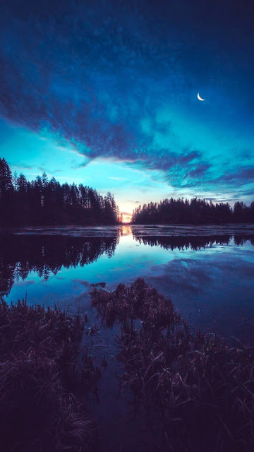 Beautiful mobile phone wallpaper in the evening+ Wallpapers Download