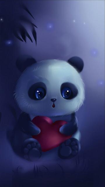 Cute Panda iphone wallpaper+ Wallpapers Download