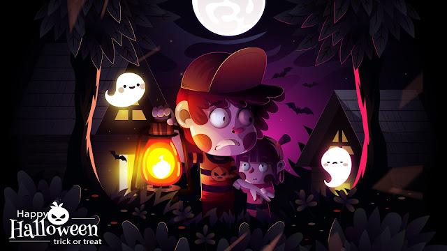 Halloween cute desktop wallpaper+ Wallpapers Download