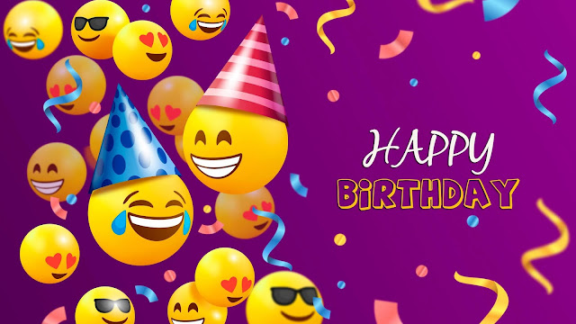 Happy Birthday with Emojis Background+ Wallpapers Download