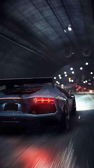Lamborghini In Tunnel iphone wallpaper+ Wallpapers Download
