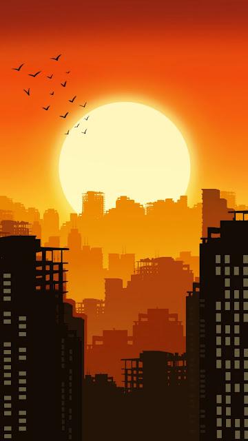 Citu Sunset Minimalist iphone wallpaper+ Wallpapers Download