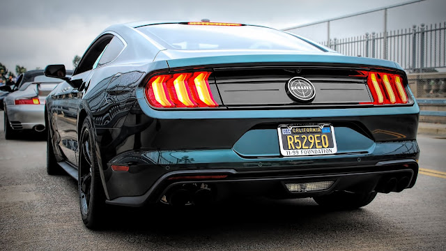 Ford Mustang upholstery, Muscle Car, rear view+ Wallpapers Download