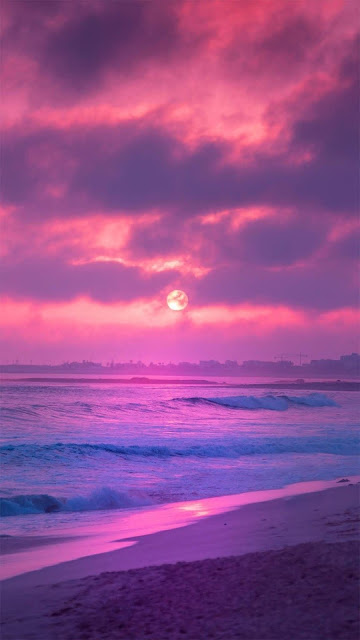 iphone Aesthetic pink sunset wallpaper+ Wallpapers Download