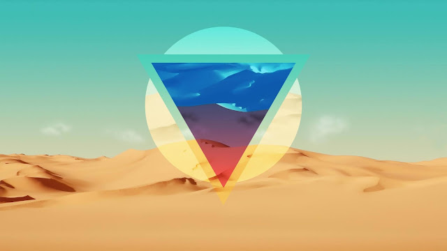 Triangle polygon desert wallpaper+ Wallpapers Download