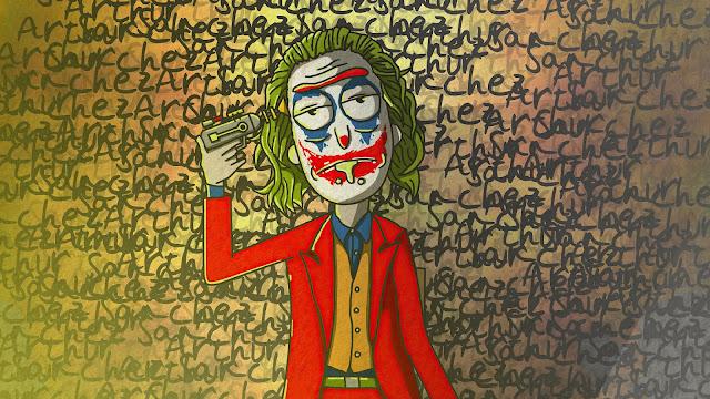 Wallpaper Rick Sanchez as The Joker+ Wallpapers Download